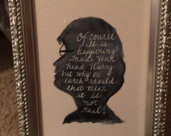 Harry Potter Silhoutte with quote