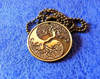 Tree Of Life Pendant, Yin Yang necklace