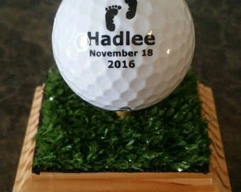 Custom Golf Ball with Display Stand