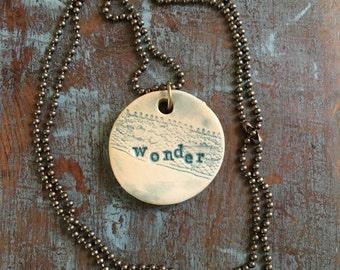 "Clay diffuser necklace ""wonder"""