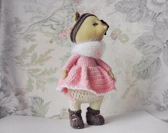 Stuffed Bear Doll  Bear Rag Doll  Teddy Bear Doll   Stuffed Animall  Bear Plush  Soft Bear Plush Toy  Fabric Doll  Holiday Gifts For Girls