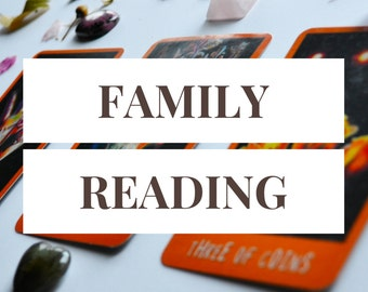 Family Reading -- 3 Card Tarot Reading + 1 Follow-Up Card -- Photo of Spread Included