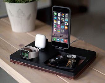 NytStnd AIRPODS TRIO 3 Midnight - FREE Shipping Dock Charging Station Wireless for iPhone X 8 AirPods Apple Watch Birthday Gift Present