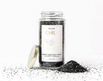 Activated Charcoal- Bath Salt, All Natural Detox, Bath Salts Detox, Bath Soak Detox, Bath Detox, Detox Salts, Bath Soak, Detox Sea Salt Bath