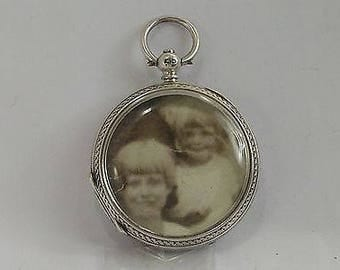 Vintage Silver Converted Pocket Watch to a Locket