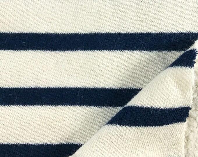 Organic Cotton Stripe Fleece Fabric