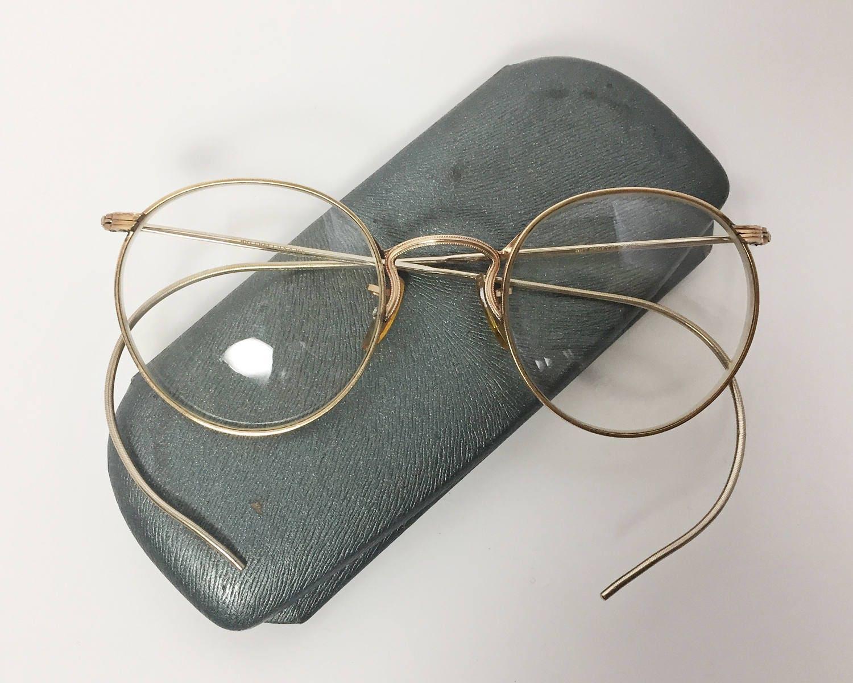 Vintage art craft ful vue eyeglasses with case 12k gold for Art craft eyeglasses vintage