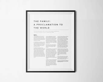 16 x 20 The Family: A Proclamation to the World