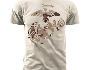 "Black Ink Men's Marines T-Shirt - Marines ""Chocolate Chip Camo"" (MT623)"