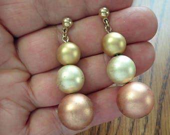 VINTAGE very nice PIERCING  earrings /L1
