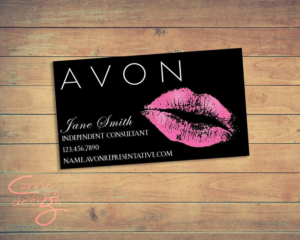 Avon business card printable download lips kiss for Business cards printable