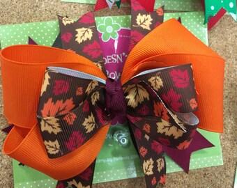 Thanksgiving - Fall Boutique Hair Bow