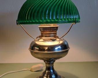 Nickel Plated Socony Rayo Lamp c1900