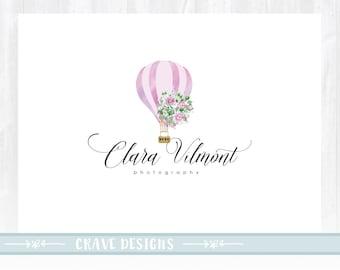 Floral Logo ,Romantic Logo, Watercolor Logo, Roses Logo, Photography Logo, Boutique Logo ,Shabby Chic Logo, Watermark