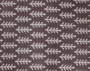 Sold By Yard Dabu Block Printed Cotton Fabric, Hand Stamped Fabic, Soft Cotton Fabric in Brownish Grey Color Hand Dyed Cotton Fabric HPS#248