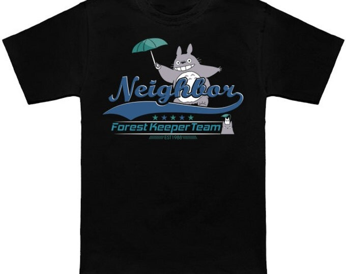 FOREST KEEPER TEAM My Neighbor Totoro Geek T-Shirt Nerd Anime Shirt Studio Ghibli Hayao Miyazaki Forest Spirit