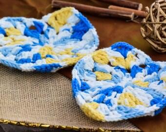 Handwoven Crochet Coasters (Set of 2 & 4)