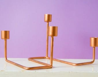 ACTION B-WARE copper candle holders
