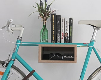 "Bicycle wall mount ""GUSTAV"" made of wood. Bikeshelf 