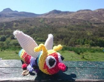 Scottish gift quirky fun Highlands Scotland souvenier Scots midgie Tartan Crochet Midges
