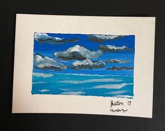 Artist trading card mini painting