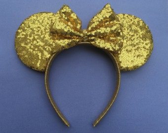 Gold Sequin Ears