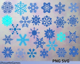 Snowflakes Svg, snowflake clipart, snowflake digital download svg, png