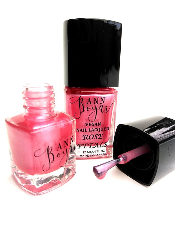 Vegan Baby Gift Ideas : Rose petals baby pink nail polish romantic gifts
