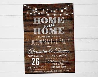 Housewarming Party Invitation, Housewarming Shower Invite, Housewarming Party Invitation Wood, House Warming Invitation, Instant Download