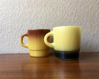 Two Vintage Fire King Mugs