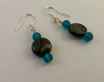 Beaded jewelry - Beaded earrings - Sea Glass - Glass Beads - Dangle earrings - Sterling Ear Wires - Gifts for her!
