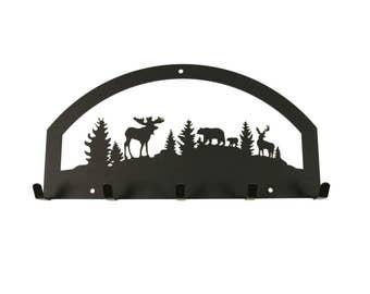 Wildlife Decor, Wildlife, Wildlife Key Holder, Moose Sign, Moose Key Holder, Bear and Moose Decor, Key Holder, Moose Decor, Bear Decor