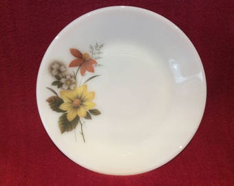 "Pyrex JAJ Autumn Glory Dahlia Tea Plate 6 1/2"" Diameter"