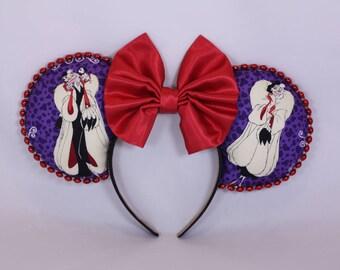 Disney Ears Cruella Deville