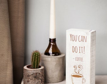 Upcycling wooden sign: you can do it! -Coffee.