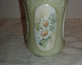 Small Hand Painted Vase.  Daisies.