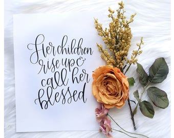 Printable Scripture, Inspirational Art, Home Decor, Christian, Instant Download, Bible Verse, High Quality Print, Hand Lettered Print