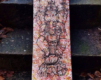 Hand painted ganesha skateboard