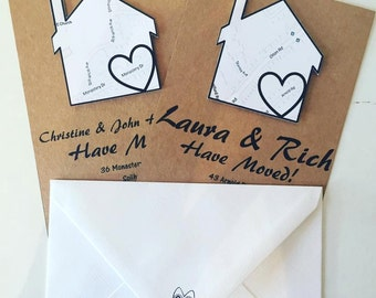 Change of Address Cards - New Home - New Address - Moving House - Handmade Cards