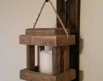 Rustic Wall Candle Lantern
