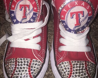 Custom Bling Texas Rangers Shoes