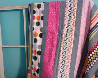 Girly Stripes Quilt