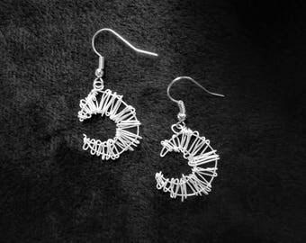 Crescent Moon Hanging Earrings