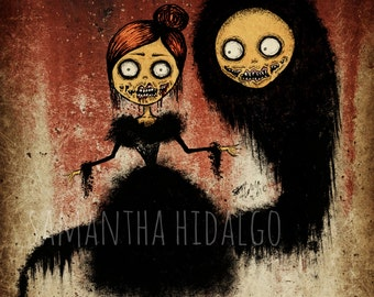 "Creepy Pop Surrealism 4x6 Art Print ""The Haunting"""