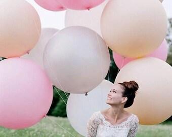 "36"" White Latex Balloons, Jumbo Balloons, Engagements, Weddings, Birthday Parties, Photoshoots"