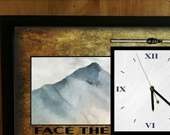Personalized Ski Lodge Clock/Skiing Print/Gift for Home or Lodge/Family Vacation home