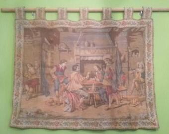 Old tapestry of musketir