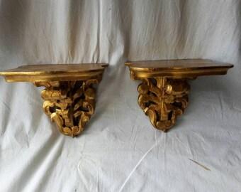 Gilded gold shelves