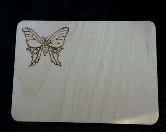 Butterfly wooden gift tag-upgrade and personalised