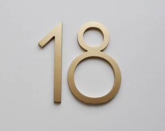 "Aluminium Numbers 4"" Metal House Numbers,MCM Numbers,Address, Metal Numbers, Letters"